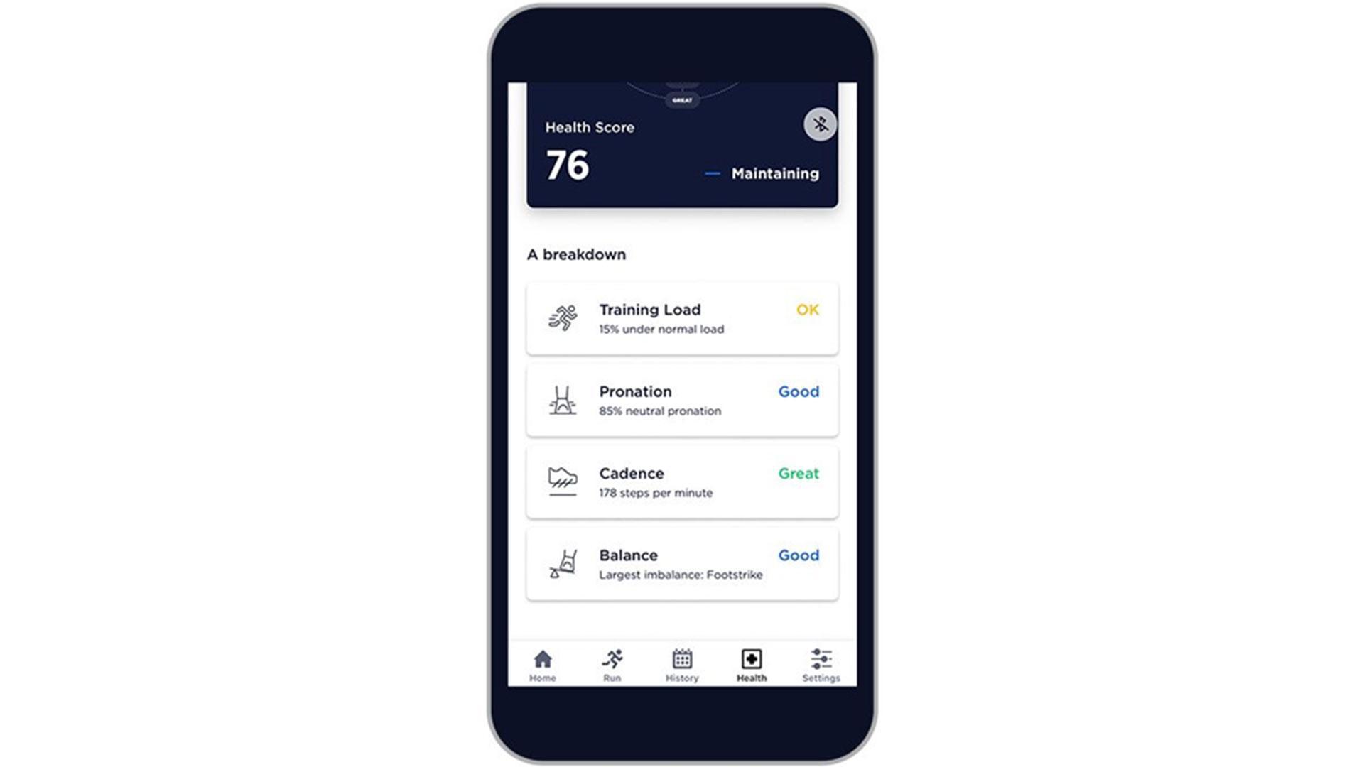 Running health app